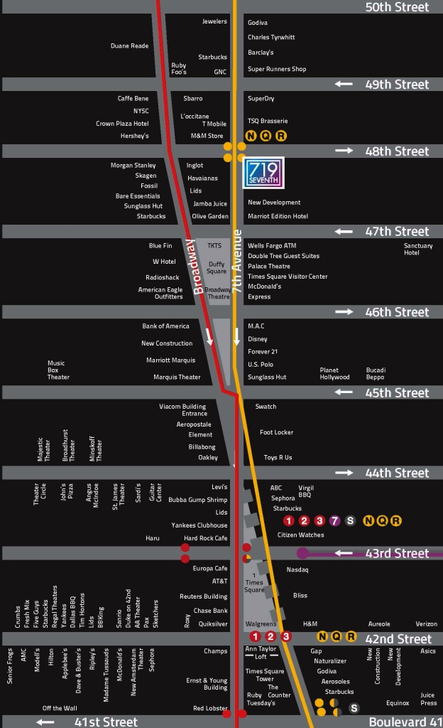 719 Seventh Times Square Map