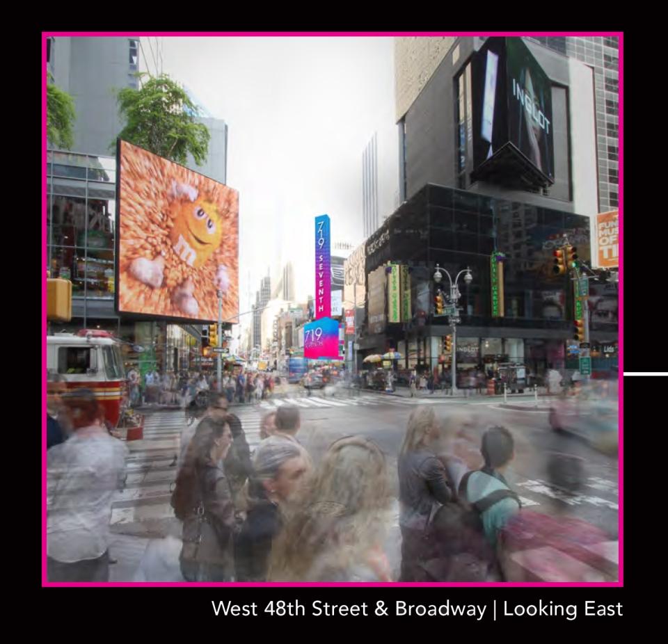 west 48th Street & Broadway Looking West
